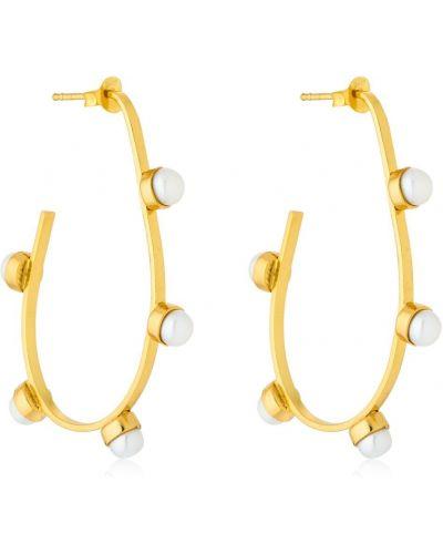 Złote kolczyki sztyfty perły pozłacane Cornelia Webb