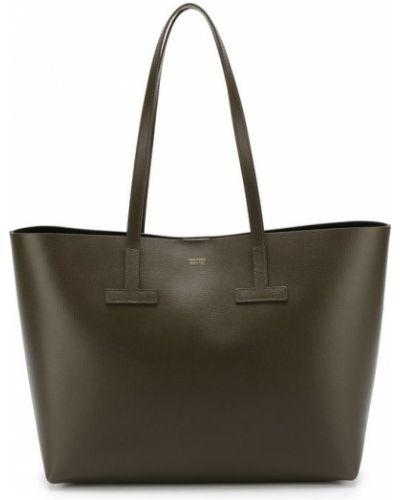 Кожаный сумка с ручками с отделениями Tom Ford
