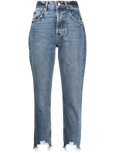 Синие джинсы скинни Anine Bing