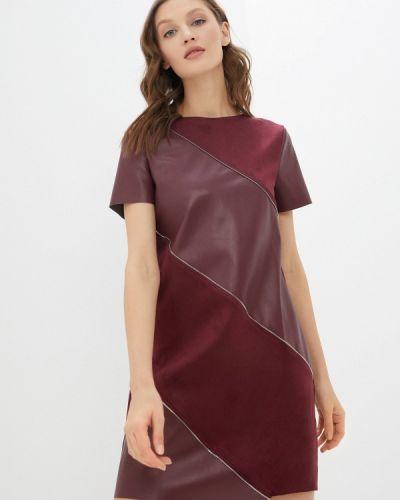Кожаное красное платье Zolla