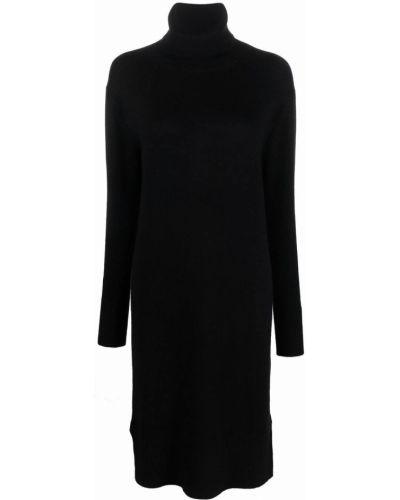 Трикотажное платье миди - черное Joseph