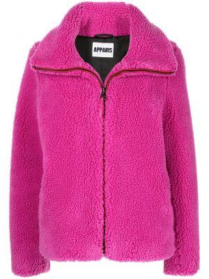 Różowy długi płaszcz Apparis