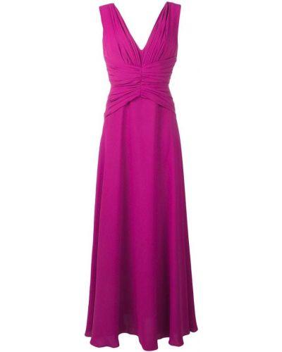 Расклешенное розовое платье на молнии Rhea Costa