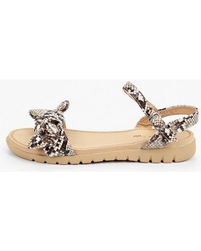 Бежевые кожаные сандалии Queen Vivi