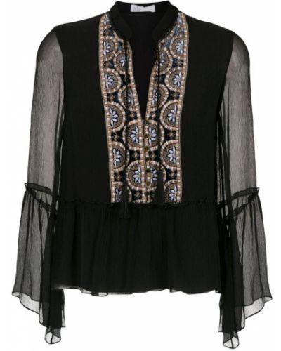 Блузка с длинным рукавом черная НК