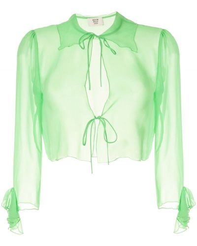 Блузка с завязками зеленый Maryam Nassir Zadeh