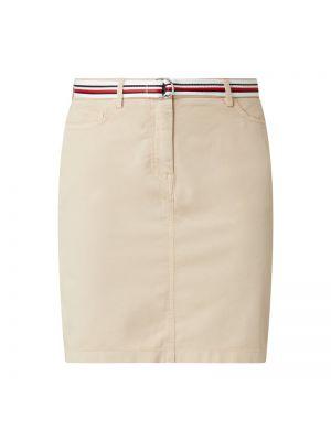 Beżowa spódnica z paskiem bawełniana Tommy Hilfiger