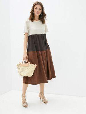Повседневное коричневое платье Helmidge