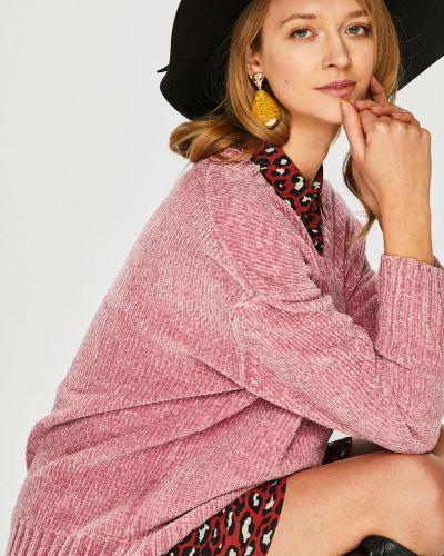 Розовый вязаный свитер с вырезом Broadway