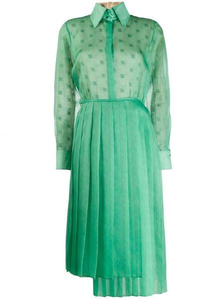 Облегающее платье с запахом плиссированное Fendi