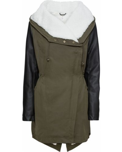 Черная плюшевая куртка с капюшоном Bonprix