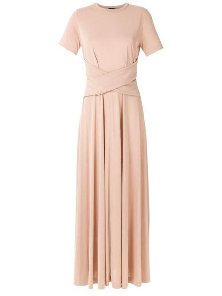 Розовое платье мини с запахом с короткими рукавами Osklen