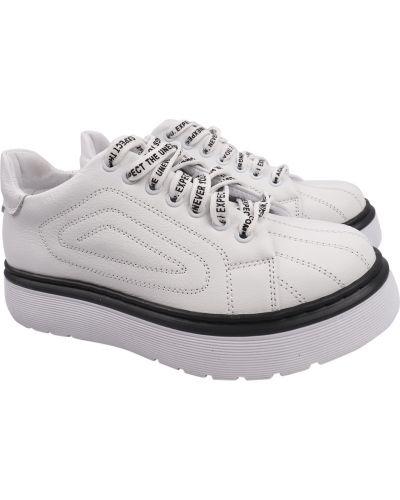 Кожаные туфли - белые Masheros