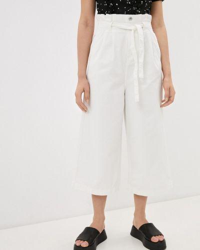 Расклешенные белые широкие джинсы Miss Bon Bon