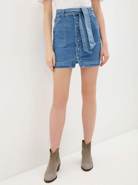 Джинсовая юбка синяя весенняя Glamorous