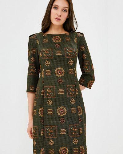 Платье осеннее зеленый Akimbo