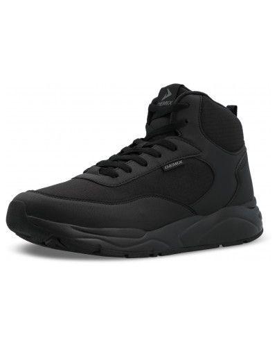 Высокие кроссовки утепленные - черные Demix