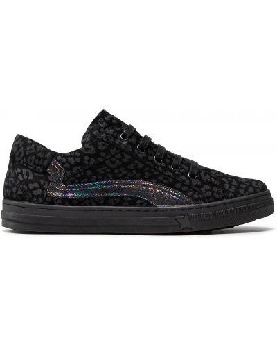 Кроссовки на шнуровке - черные Froddo