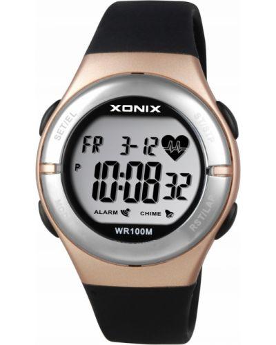 Czarny złoty zegarek sportowy Xonix