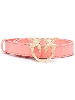 Розовый кожаный ремень Pinko