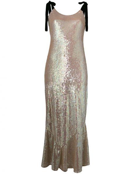 Złota sukienka długa Attico