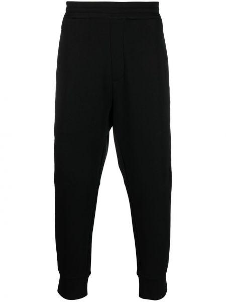 Czarny dres bawełniany Emporio Armani