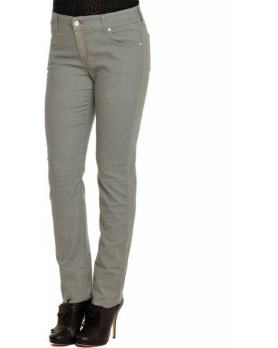 Хлопковые джинсы - серые Armani Collezioni