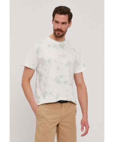 T-shirt bawełniany z printem Guess