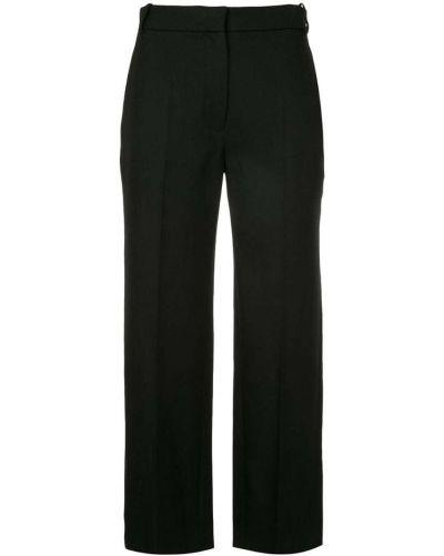 Укороченные брюки шерстяные черные Vilshenko