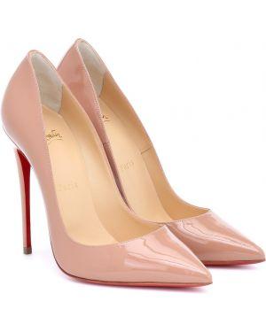 Кожаные туфли лодочки розовый Christian Louboutin