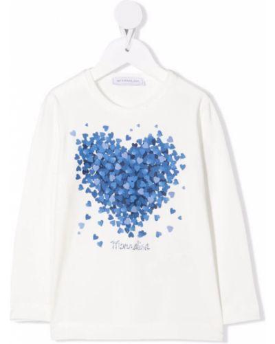 Biała t-shirt Monnalisa
