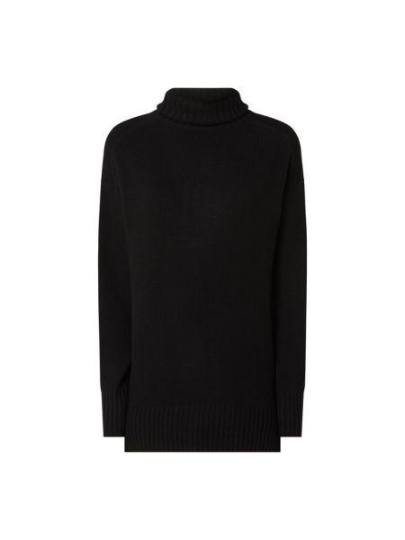 Kaszmir czarny sweter z kołnierzem Polo Ralph Lauren