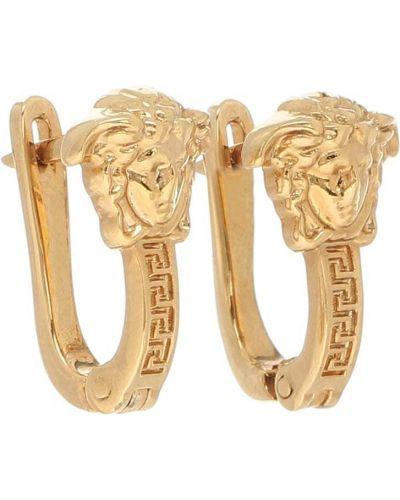 Kolczyki złoto metal Versace
