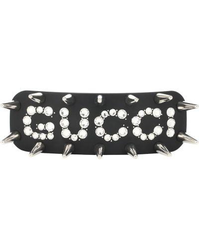 Spinka do włosów plastikowy czarny Gucci