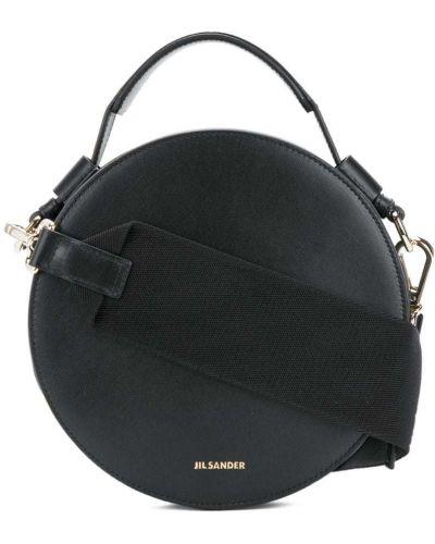 Кожаный сумка на плечо круглая Jil Sander