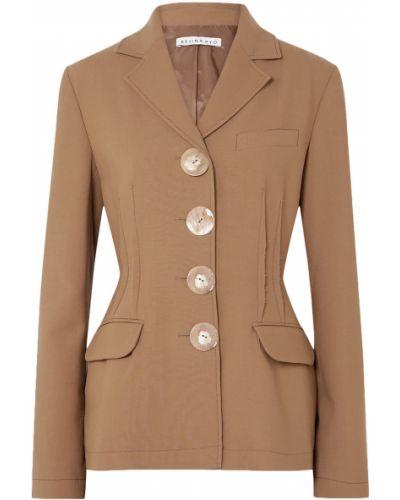 Шерстяной коричневый пиджак с подкладкой Rejina Pyo