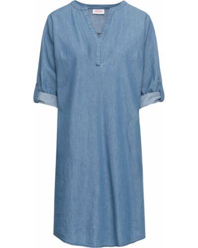 Джинсовое платье голубой Bonprix