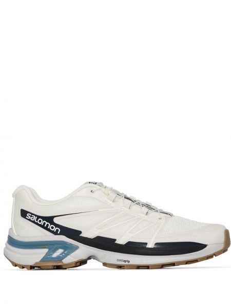 Белые текстильные кроссовки Salomon S/lab