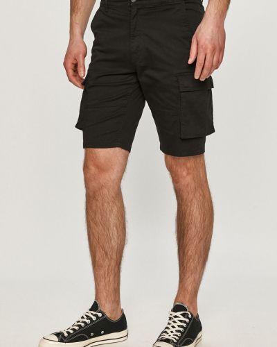 Czarne szorty cargo materiałowe casual Only & Sons