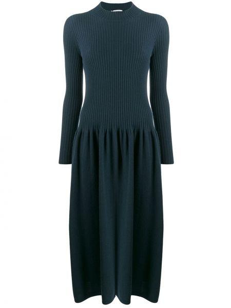 Платье макси длинное - зеленое Agnona