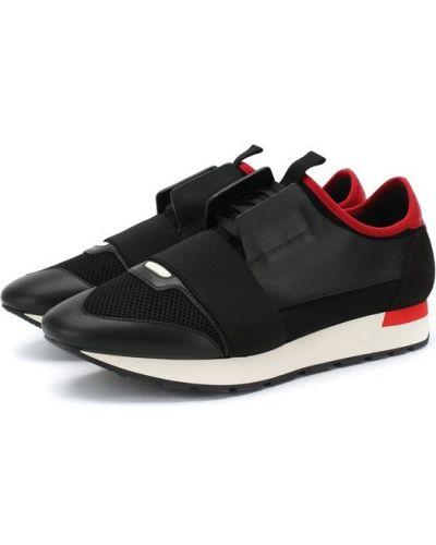 Кроссовки на шнуровке комбинированные Balenciaga
