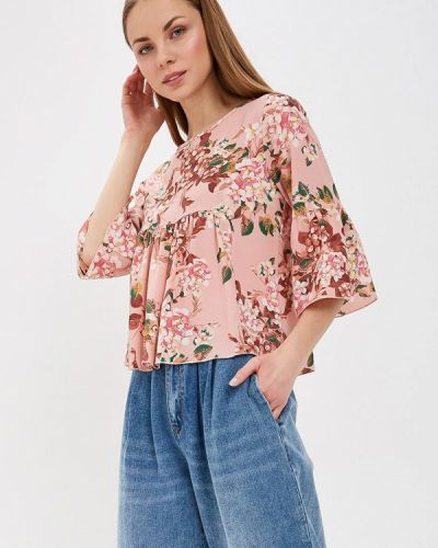 Блузка с длинным рукавом розовая Almatrichi