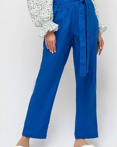 Повседневные синие брюки Morandi