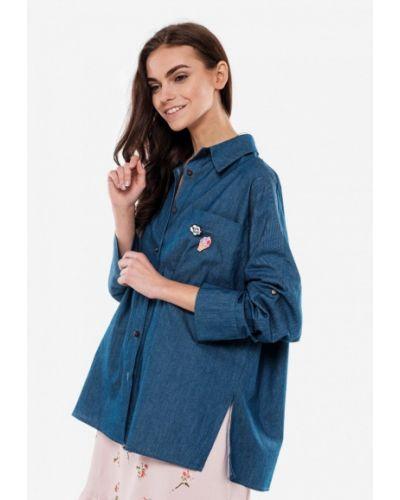 Джинсовая рубашка синяя 7arrows