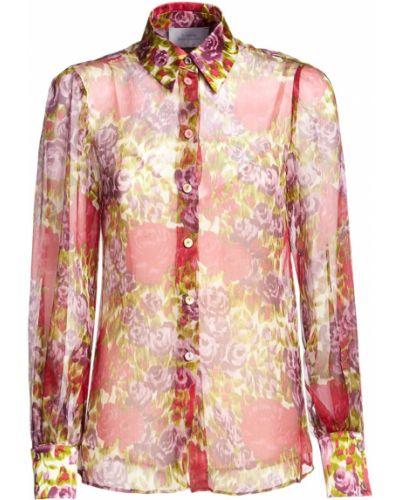 Шелковая рубашка с манжетами Luisa Beccaria