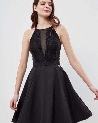 Черное платье мини Met
