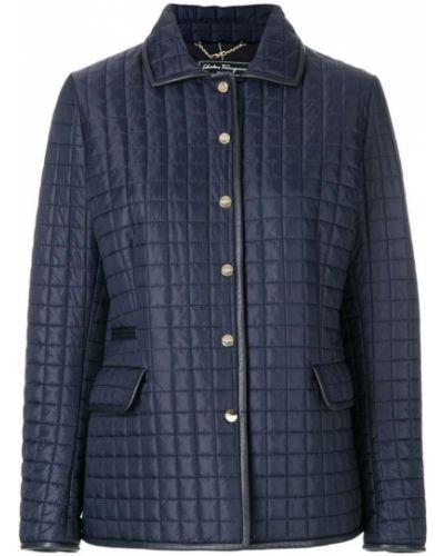 Стеганая куртка длинная укороченная Salvatore Ferragamo