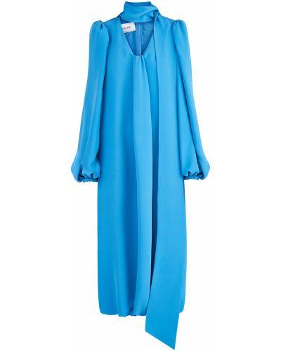 Платье миди с V-образным вырезом со складками Valentino