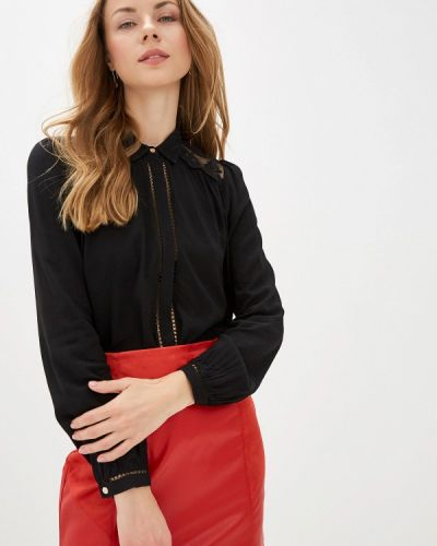 Блузка с длинным рукавом турецкий черная Naf Naf