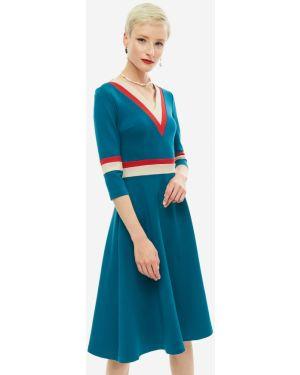 Платье со вставками из вискозы Olga Skazkina